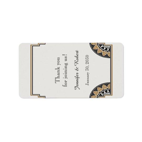 Etiqueta elegante del protector labial del boda