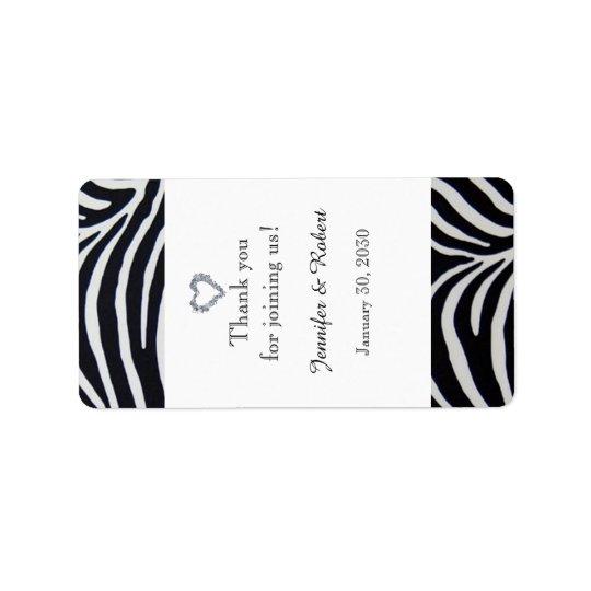 Etiqueta elegante del protector labial del boda de etiqueta de dirección