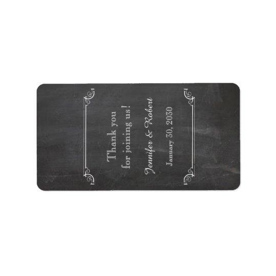 Etiqueta elegante del protector labial del boda de etiquetas de dirección