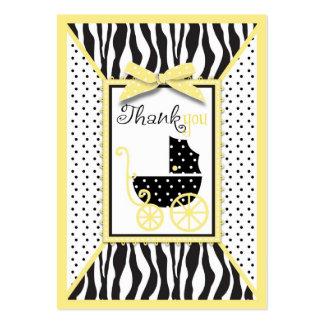 Etiqueta elegante del regalo del amarillo TY del Tarjetas De Visita Grandes