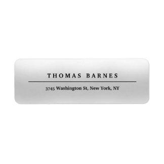Etiqueta Elegante llano minimalista gris clásico