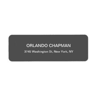 Etiqueta Elegante llano moderno del fondo gris profesional