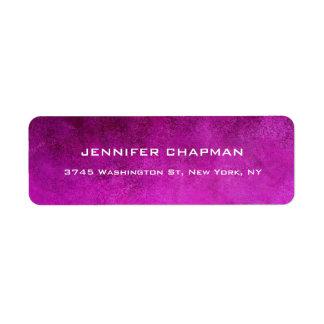 Etiqueta Elegante llano moderno femenino rosado profesional