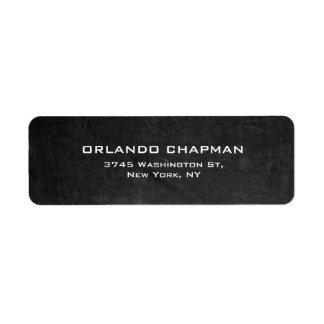 Etiqueta Elegante llano simple de la pizarra gris moderna