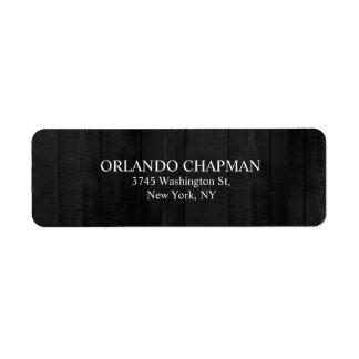 Etiqueta Elegante llano simple del diseño de madera gris