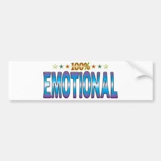 Etiqueta emocional v2 de la estrella etiqueta de parachoque