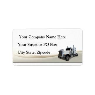 Etiqueta Empresa de transportes