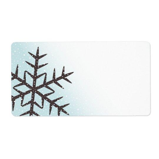 Etiqueta en blanco azul de la aguamarina pálida de