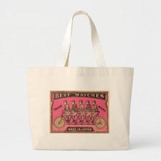 Etiqueta en tándem japonesa de la caja de cerillas bolso de tela gigante