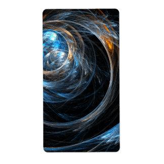 Etiqueta En todo el mundo fractal del arte abstracto
