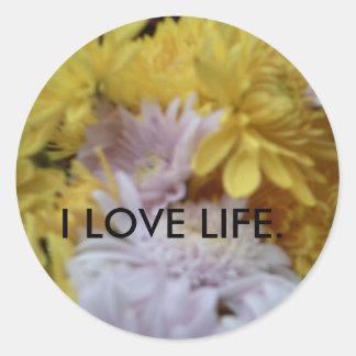 Etiqueta engomada de la flor