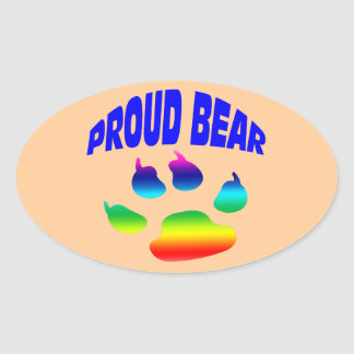 Etiqueta engomada gay del orgullo del oso