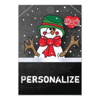 Etiqueta enorme del regalo del muñeco de nieve del invitación 8,9 x 12,7 cm
