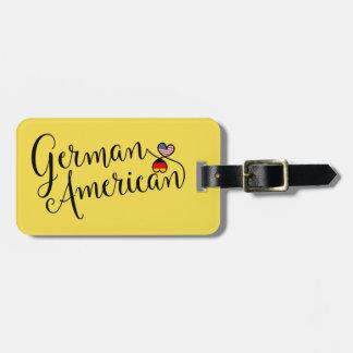 Etiqueta entrelazada americano alemán del equipaje