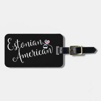 Etiqueta entrelazada americano estonio del
