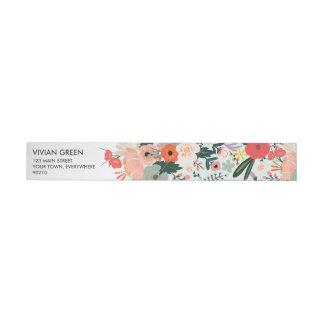 Etiqueta Envolvente De Dirección Abrigo floral del boda de Anya alrededor de