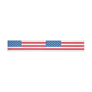 Etiqueta Envolvente De Dirección Barras y estrellas de la bandera de los E.E.U.U.