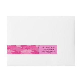 Etiqueta Envolvente De Dirección Modelo rosado femenino del camuflaje del estilo
