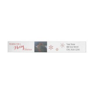 Etiqueta envuelta de las Felices Navidad el | de