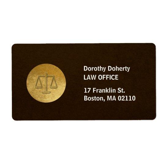 Etiqueta Escalas del bufete de abogados de la justicia el |