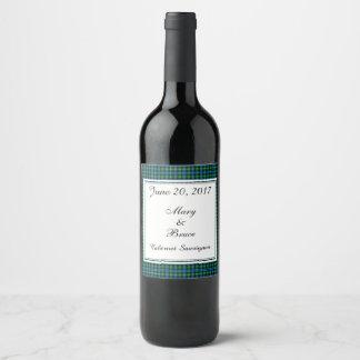 Etiqueta escocesa del vino del boda de Lamont
