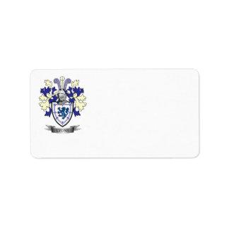 Etiqueta Escudo de armas del escudo de la familia de Lyon