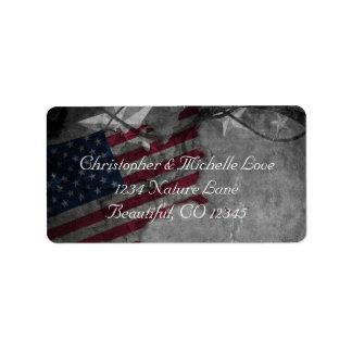 Etiqueta Estados Unidos patrióticos señalan por medio de