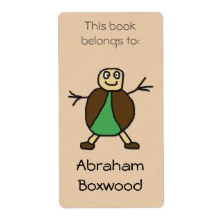 Etiqueta Este libro pertenece a la gente conocida de