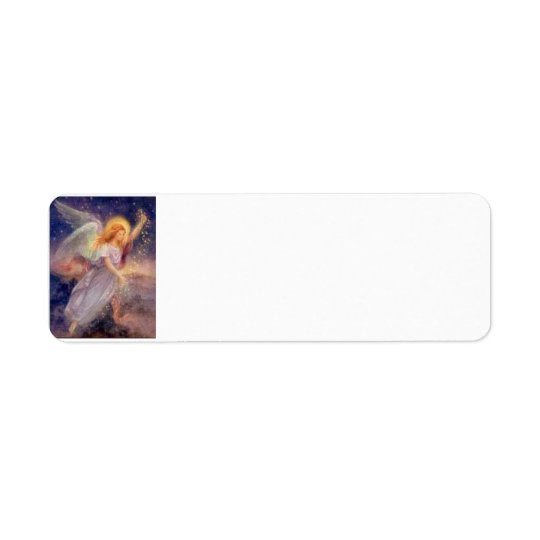 Etiqueta estrellada del ángel etiqueta de remitente