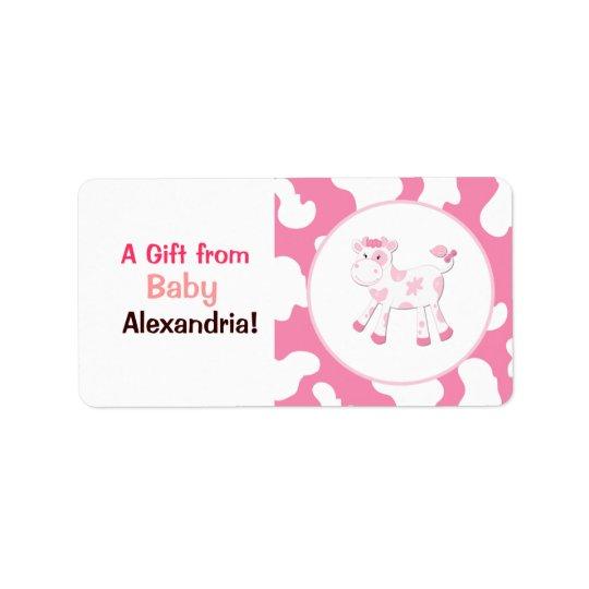 Etiqueta Etiquetas/pegatinas rosados del personalizado de