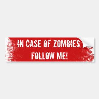 Etiqueta experta del zombi pegatina para coche