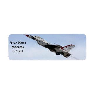 Etiqueta F-16 Thunderbird en vuelo
