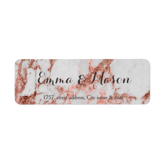 Etiqueta Falsa colección color de rosa de mármol elegante