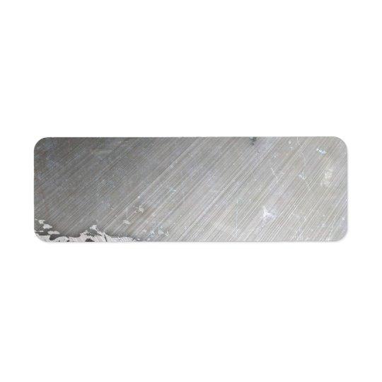 Etiqueta (Falsa) disposición metalizado cepillada gastada