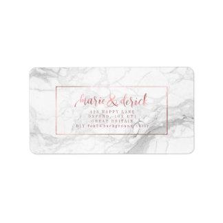 Etiqueta Falso oro color de rosa de PixDezines+Mármol+Fondo