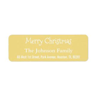 Etiqueta Falso remite de encargo de las Felices Navidad del