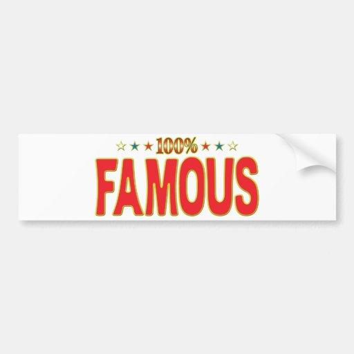 Etiqueta famosa de la estrella pegatina de parachoque