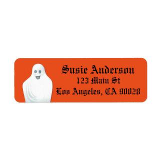 Etiqueta Fantasma feliz Halloween
