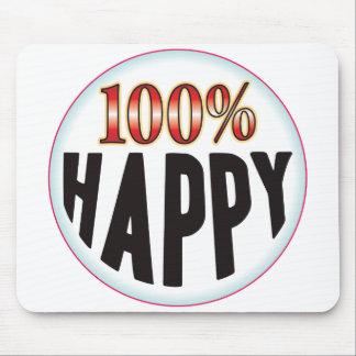 Etiqueta feliz tapete de raton