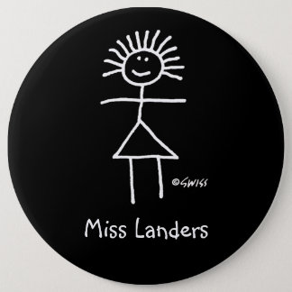 Etiqueta femenina 6 divertidos lindos del nombre chapa redonda de 15 cm