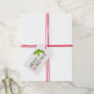 Etiqueta festiva del regalo de vacaciones de las etiquetas para regalos