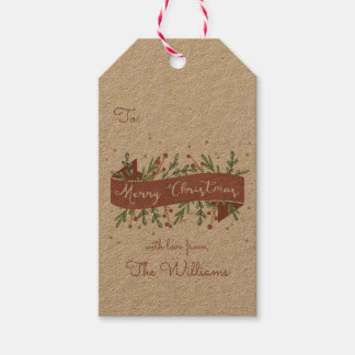 Etiqueta festiva del regalo del navidad del etiquetas para regalos