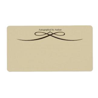 Etiqueta Firmado por el arco cincelado color de Ecru autor