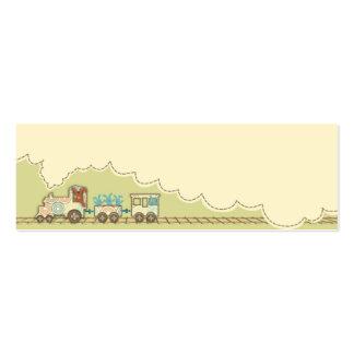 Etiqueta flaca 2 del regalo del tren de Choo Choo Tarjetas De Visita Mini