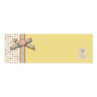 Etiqueta flaca B del regalo del oso del oso Plantillas De Tarjetas De Visita