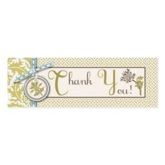 Etiqueta flaca con clase del regalo de la aceituna plantilla de tarjeta de visita