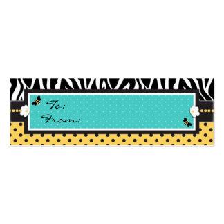Etiqueta flaca del regalo de la abeja del cumpleañ plantillas de tarjeta de negocio