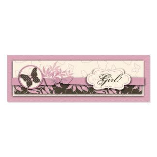 Etiqueta flaca del regalo del bebé de la mariposa tarjetas de visita