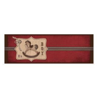 Etiqueta flaca del regalo del bebé del vaquero tarjetas de visita mini