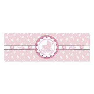 Etiqueta flaca del regalo del chica del dulce uno tarjetas de visita mini